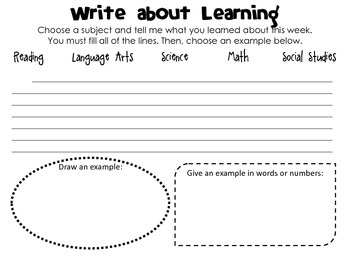 Write About Learning