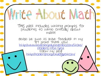 Write About Math Combo Pack!