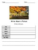 Write About a Fall Picture! Visual Writing Prompts - Great