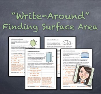"""Write-Around"": Finding Surface Area ENGAGE STUDENTS"