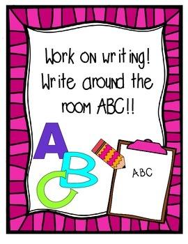 Write Around the Room ABC
