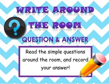 Write Around the Room Question and Answer