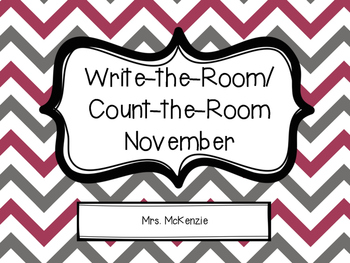 Write/Count the Room: November