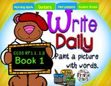 Sentence Writing Prompts Phonics Sight Words 1.1