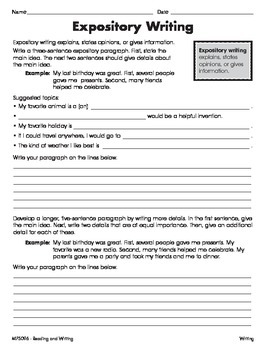 Write Informative Texts 2 (CCSS W.5.2)