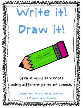 Write It! Draw It! Part of Speech Visual Sentence Activity