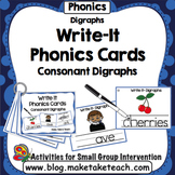 Digraphs - Write It Phonics Cards for Digraphs