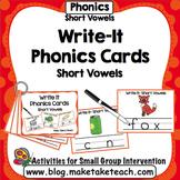 Short Vowels - Write It Phonics Cards