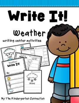 Write It! Weather Writing Center Activities