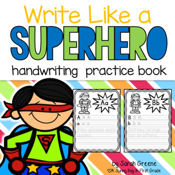 Write Like a Superhero {Manuscript Handwriting Posters & P