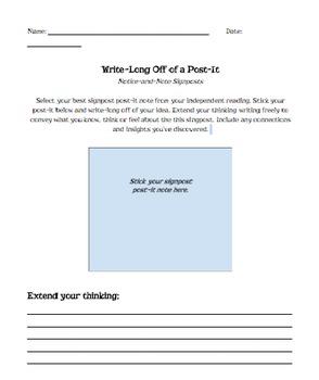 Write Long Off a Post-It