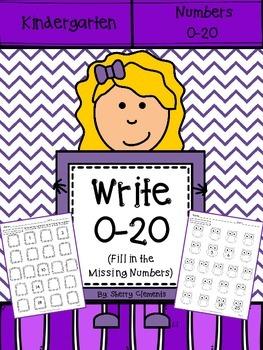 Write Numbers 0-20