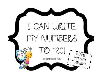 Write Numbers to 120 No-prep Printables