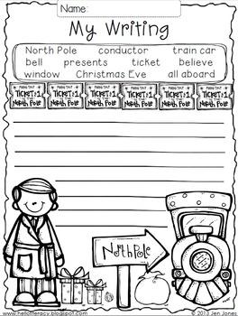 Write On! Hello Writing: A Fun Seasonal Sheet {North Pole