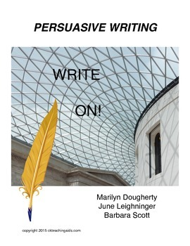 Persuasive Writing  Instruction and Practice - Write On!