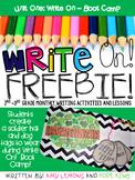 Write On! Unit 1- Boot Camp FREEBIE