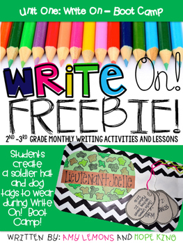 Write On! Unit 1- Boot Camp FREEBIE