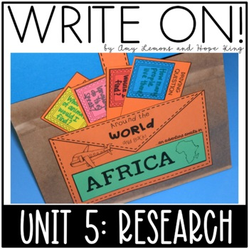 Write On! Unit 5:  Research {Animal Research and Continent