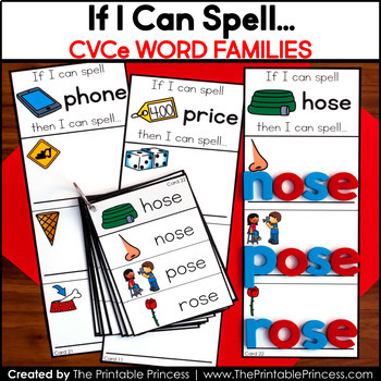 CVCe Words Long Vowel Word Building Cards