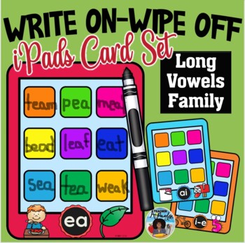 Write On-Wipe Off Long Vowel Families Mats