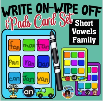Write On-Wipe Off Short Vowel Families Mats
