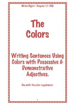 EFL Write Right Chapter 11 (US) - The Colors