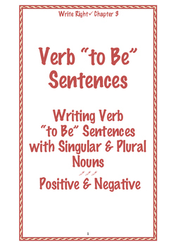 EFL Write Right Chapter 3- Verb 'to Be' Sentences