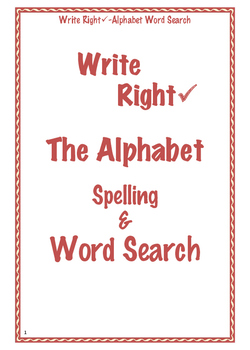 Write Right Word Search 1
