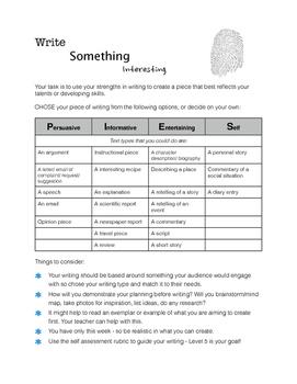 Write Something Interesting