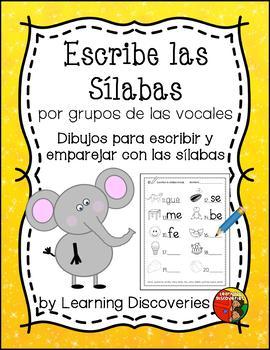 Write Syllables by Vowel Groups - Escribe Sílabas por Grup