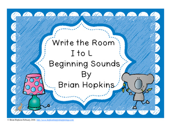 Write The Room Beginning Sounds I to L