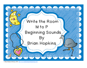 Write The Room Beginning Sounds M to P