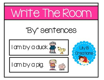 """Write The Room ~ """"By"""" Sentences"""