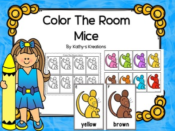 Write The Room Color Words - Mice