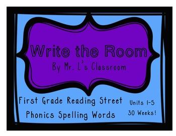 Write The Room: First Grade Reading Street Phonics Units 1
