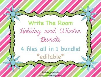 Write The Room - Holiday and Winter Bundle *editable*