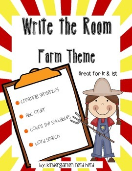Write The Room Reading: Farm Theme