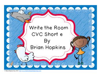 Write The Room Short E Words