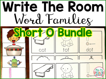 Write The Room Word Families: Short O edition