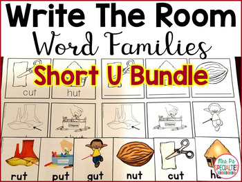 Write The Room Word Families: Short U edition