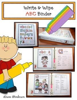 Write & Wipe Alphabet Practice Binder