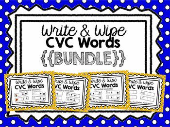 Write & Wipe CVC Words BUNDLE