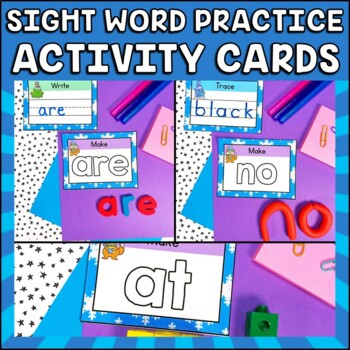 Winter Write, Wipe and Make Cards Dolch Primer Sight Words