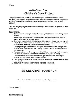 Write Your Own Children's Story Book Project