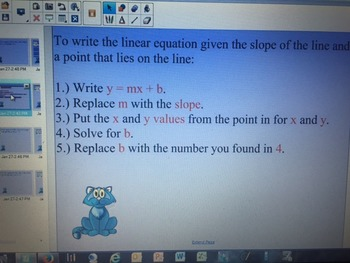 Write a Linear Equation Given a Point and the Slope or Giv