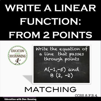 Linear equations Write a Linear Equation from 2 points tas