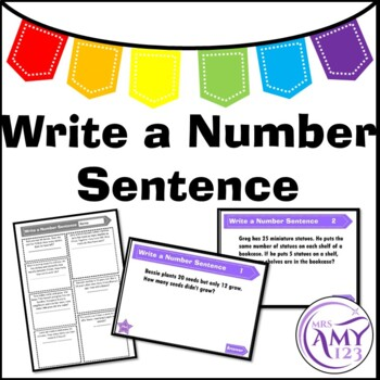 Write a Number Sentence - Problem Solving PowerPoint, Task