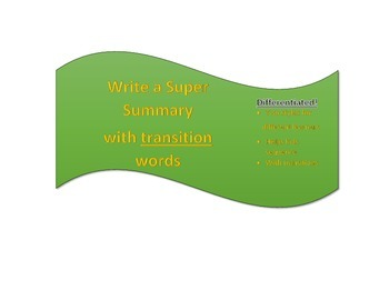 Write a summary using transitions - TWO templates