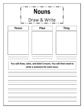 Draw and Write Nouns