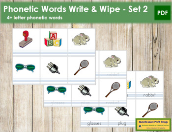 Write and Wipe: 4+ Letter Words